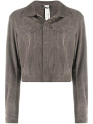 Giorgio Brato Snap Button Jacket Grey
