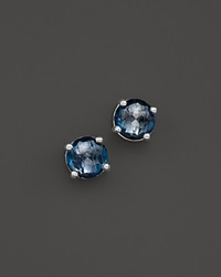 Ippolita Rock Candy Sterling Silver Mini Stud Earrings With Blue Topaz Silver Blue