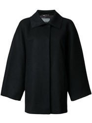 Alberta Ferretti Wide Sleeve Coat Black