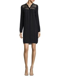 Elie Tahari Lita Silk Shirtdress Navy