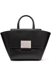 Calvin Klein 205W39nyc Bonnie Mini Canvas Trimmed Leather Tote Black