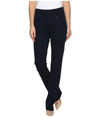 Jag Jeans Peri Pull On Straight Bay Twill Nautical Navy Women's Casual Pants