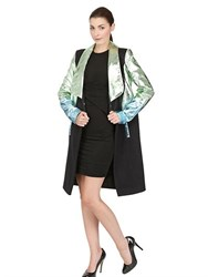 Paskal Laminated Leather And Wool Cloth Coat