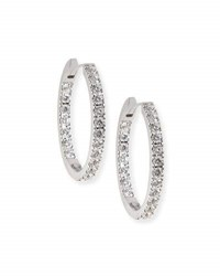 Memoire 18K White Gold And Diamond Infinity Hoop Earrings 2.58 Tdcw