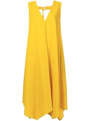 Le Ciel Bleu 'Round Flare' Dress Yellow And Orange