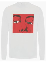 J.W.Anderson Jw Anderson Graphic Print Long Sleeve T Shirt White