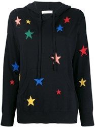 Chinti And Parker Star Print Hoodie Blue