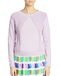 424 Fifth Traveling Rib Pullover Orchid Bloom
