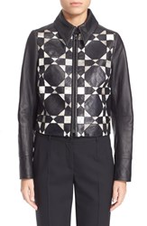 Women's Yigal Azrou L Patchwork Genuine Snakeskin And Leather Jacket