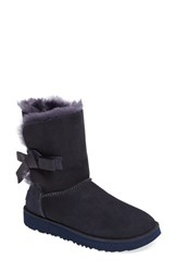 Uggr Women's Ugg Classic Knot Short Boot Imperial Navy Suede
