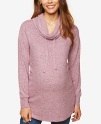Motherhood Maternity Cowl Neck Sweatshirt Lilas