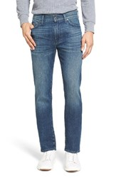7 For All Mankindr Men's Big And Tall Mankind Slimmy Slim Fit Jeans Calgary Blue
