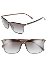 Boss Men's '0666 S' 52Mm Sunglasses Shaded Petroleum Brown