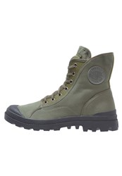 Palladium Pampa M65 Laceup Boots Army Green Black Flame Mottled Black