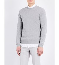 Slowear Crew Neck Cotton Jumper Grey Marl