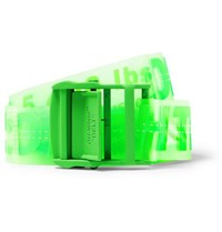 Off White 4.5Cm Neon Green Industrial Pvc Belt Green