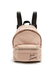 Saint Laurent Toy City Embroidered Mini Leather Backpack Light Pink