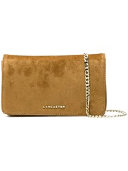 Lancaster Large Clutch Bag Yellow And Orange