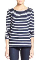 Vineyard Vines Stripe Long Sleeve Knit Tee Surf Blue