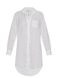 Frank And Eileen Mary Linen Shirtdress White