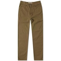 Norse Projects Edvard Twill 5 Pocket Pant Green