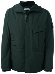 Stone Island Patch Pocket Padded Jacket Green