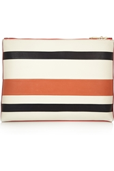 Sonia Rykiel Striped Leather Clutch