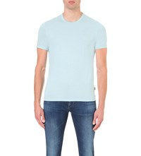 Hugo Boss Slim Fit Cotton Jersey T Shirt Light Pastel Green