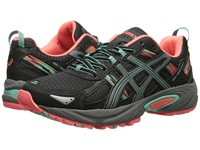 Asics Gel Venture 5 Black Aqua Mint Flash Coral Women's Running Shoes
