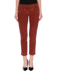 Closed Casual Pants Brick Red