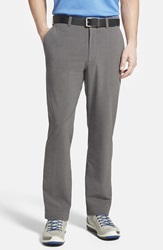 Cutter Buck 'Bainbridge' Drytec Moisture Wicking Flat Front Pants Big And Tall Iron Grey