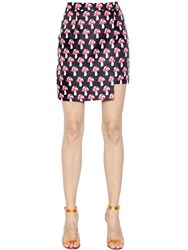 House Of Holland Mushroom Printed Techno Twill Mini Skirt