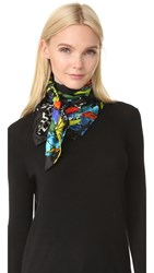 Marc Jacobs Parrots Scarf Black Multi