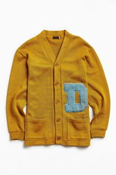 Urban Outfitters Vintage Varsity D Cardigan Gold