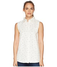 United By Blue Primrose Sleeveless Button Down Cream Beige