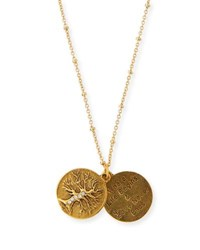 Sequin Tree Of Life Talisman Necklace Gold