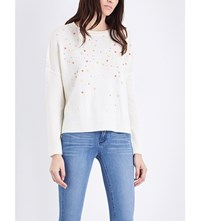 Duffy Embellished Cashmere Jumper Chalk Pale Neon Beads