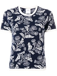 Barrie Short Sleeve Knitted Top Blue