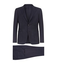 Zegna Wool Two Piece Suit Navy