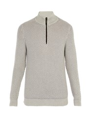 Iris Von Arnim Kolumbus Zip Up Cashmere Sweater Light Grey