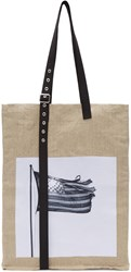 Raf Simons Beige Robert Mapplethorpe Edition Extreme Big American Flag Tote