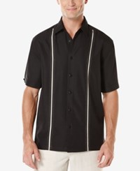 Cubavera Short Sleeve Contrast Shirt Jet Black