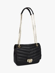 Jaeger Elena Quilted Chain Strap Bag Black