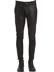 Isabel Benenato Stretch Leather Tight Pants