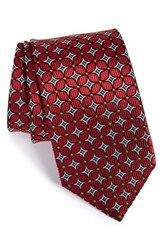 Men's J.Z. Richards Geometric Grid Silk Tie Red