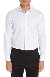 Nordstrom 'S Big And Tall Men's Shop Extra Trim Fit Non Iron Solid Dress Shirt White