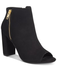 Material Girl Carena Peep Toe Booties Only At Macy's Women's Shoes Black