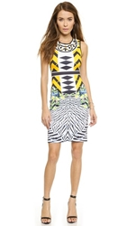 Clover Canyon Toucan Embellished Neck Dress Yellow