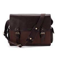 Aspinal Of London Shadow Messenger Brown