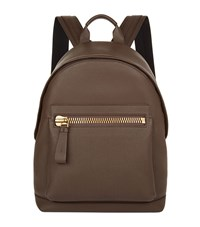 Tom Ford Leather Backpack Unisex Brown